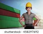 asian business woman wearing... | Shutterstock . vector #458297692