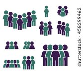 people icon set | Shutterstock .eps vector #458299462