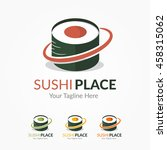 sushi place logo template | Shutterstock .eps vector #458315062