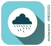 cloud rain icon vector logo for ...