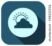 cloud and sun icon vector logo...