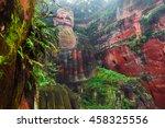 the 71m tall giant buddha  dafo ... | Shutterstock . vector #458325556