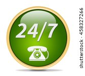 24 7 support phone  icon.... | Shutterstock . vector #458327266