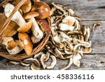 Fresh Boletus Mushrooms In A...