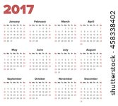 calendar for 2017 on a white... | Shutterstock .eps vector #458338402