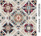luxury oriental tile seamless... | Shutterstock .eps vector #458351836