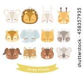set of twelve illustrations of... | Shutterstock .eps vector #458357935