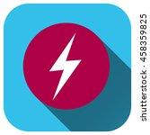 flash vector icon  lightning...   Shutterstock .eps vector #458359825