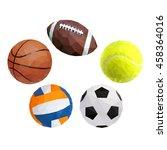 vector balls for sports on...   Shutterstock .eps vector #458364016