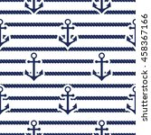 set of sea and nautical... | Shutterstock .eps vector #458367166