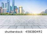 empty brick floor with modern... | Shutterstock . vector #458380492
