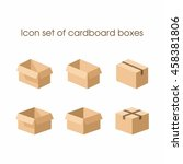 cardboard boxes in three... | Shutterstock .eps vector #458381806