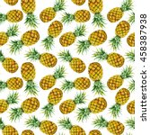 seamless pattern with hand... | Shutterstock . vector #458387938