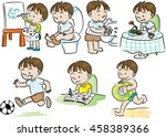 boys action | Shutterstock .eps vector #458389366