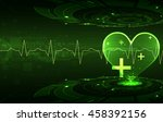 abstract medical background.... | Shutterstock .eps vector #458392156