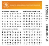 big icon set website icon... | Shutterstock .eps vector #458400295