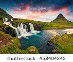 summer sunset on famous... | Shutterstock . vector #458404342