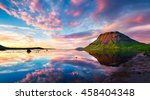 Colorful Summer Sunset With...