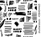 seamless pattern with hand... | Shutterstock .eps vector #458404465