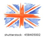 Watercolor Flag Of England On...