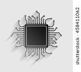 cpu microprocessor illustration....   Shutterstock .eps vector #458411062