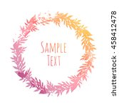 hand drawn floral vector... | Shutterstock .eps vector #458412478
