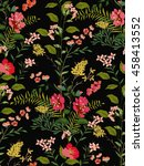 trendy seamless floral pattern... | Shutterstock .eps vector #458413552