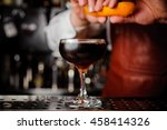 orange garnish spray over a... | Shutterstock . vector #458414326