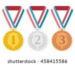 golden  silver and bronze... | Shutterstock .eps vector #458415586