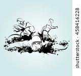 vector illustration triathlon | Shutterstock .eps vector #458416228