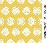 seamless golden floral pattern...   Shutterstock .eps vector #458427082