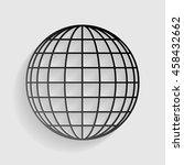 earth globe sign. black paper... | Shutterstock .eps vector #458432662