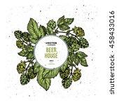 beer hop vertical banner... | Shutterstock .eps vector #458433016