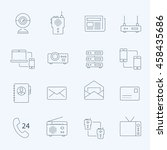 lines icon set   communication... | Shutterstock .eps vector #458435686