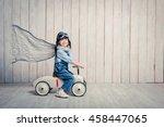 little smiling driver in studio | Shutterstock . vector #458447065