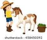 Farm Girl With Little Pony...