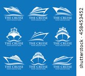 cruise ship logos | Shutterstock .eps vector #458453452