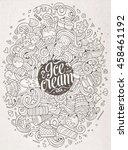 cartoon cute doodles hand drawn ... | Shutterstock .eps vector #458461192