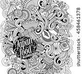cartoon cute doodles hand drawn ...   Shutterstock .eps vector #458461378