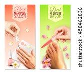 vertical best pedicure and... | Shutterstock .eps vector #458462836