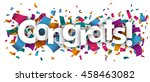 confetti with text congrats.... | Shutterstock .eps vector #458463082