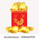 chinese new year money packets. ... | Shutterstock . vector #458463955
