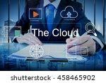 big data domain web page seo... | Shutterstock . vector #458465902