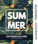 bright hawaiian design with... | Shutterstock .eps vector #458468746