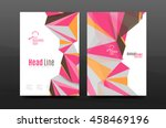 3d abstract geometric shapes.... | Shutterstock .eps vector #458469196