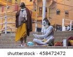 varanasi  uttar pradesh state ... | Shutterstock . vector #458472472