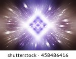 abstract  violet fractal... | Shutterstock . vector #458486416