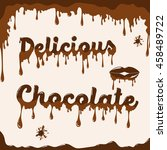 chocolate vector background... | Shutterstock .eps vector #458489722