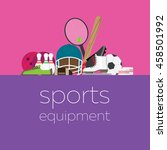 composition with sports... | Shutterstock .eps vector #458501992