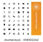 education and science icon set ... | Shutterstock .eps vector #458502262